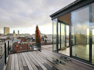 In het hart van Brussel: Schitterend duplex penthouse van 109m² met een uitzonderlijk uitzicht over de stad! Hal, 2 onafhankelijke suites die elk