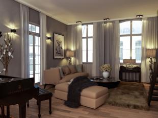 Het best bewaarde geheim van Antwerpen. Echt uniek wonen in een gerenoveerde historische woning. Inkom met vestiaire op eiken parket. (Slaap)kamer op