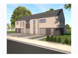 Nieuw te bouwen kleinschalig nieuwbouwproject bestaande uit 3 woonentiteiten, in het hartje Vlaamse Ardennen. Halfopen bebouwing op lot 4: Inkomhal me