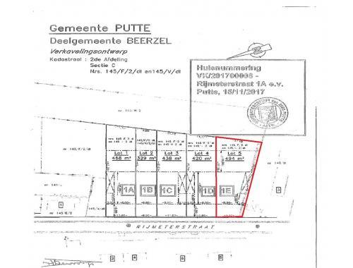 Bouwgrond te koop in Beerzel, € 139.000