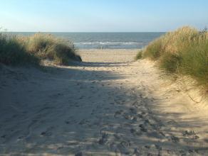 'Voetjes in het zand' (les pieds dans l'eau)! Prachtige gerenoveerde studio (35m2) op de Zeedijk 410, residentie Noordpas. Met afsluitbare slaaphoek (