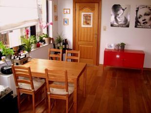 Gezellig appartement in het centrum van de stad bestaande uit een inkomhal met ingebouwde vestiairekast, een geïnstalleerde keuken met mogelijkheid to