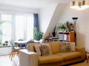 Appartement met veel lichtinval en garage te huur in centrum Gent. 2 slaapkamers, badkamer, living, keuken en hal. Alles gerenoveerd. Elektriciteit go