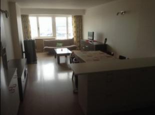 GERENOVEERD APPARTEMENT TE HUUR:<br /> 2 slaapkamers, grote leefruimte met open keuken (kookfornuis, oven, frigo, diepvries), aparte WC, badkamer met