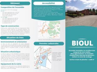 """Te ontwikkelen polyvalent gebouw met grote parking nabij (1,5 km) toeristische locatie """"Les Jardins d'Annevoie"""" <br /> Het goed bestaat uit :<br /> 1."""
