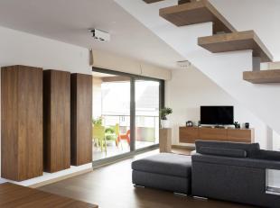Luxueus duplex appartement met hoogstaande afwerking.<br /> goede ligging vlakbij het openbaar vervoer, invalswegen, winkels en scholen.<br /> Het bet