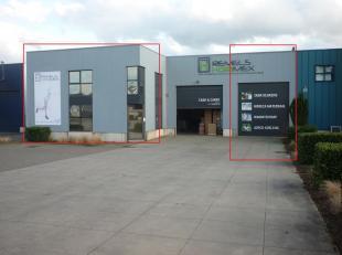 Magazijn 420 m2  met bureel  65 m2 (zie indelingsplan) gelegen Klaverbladstraat 16  te 3560 Lummen vlak bij de verkeerswisselaar E313 / E314