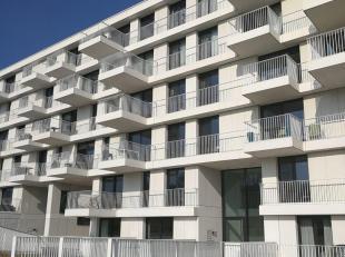 Nieuwbouwappartement met ruimtegevoel dankzij de hoge plafonds.  Het appartement bevat een leefruimte met open keuken, twee slaapkamers, nachthal, toi